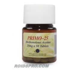 Primo-25 for sale | Methenolone Acetate 25 mg x 50 tablets | Global Anabolics