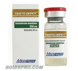 Testo Depot for sale | Testosterone Enanthate 250mg/ml 10ml Vial | Meditech