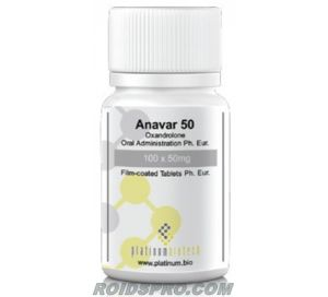 Anavar 50 for sale | Oxandrolone 50 mg x 100 tablets | Platinum Biotech