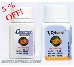 Weight loss steroid cycle for sale with T3 Cytomel + Clenbuterol - roidspro.com